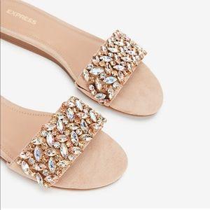 NWT Jewel Embellished Slide Sandals